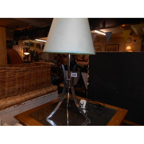 209 - Modern chrome chic lamp...
