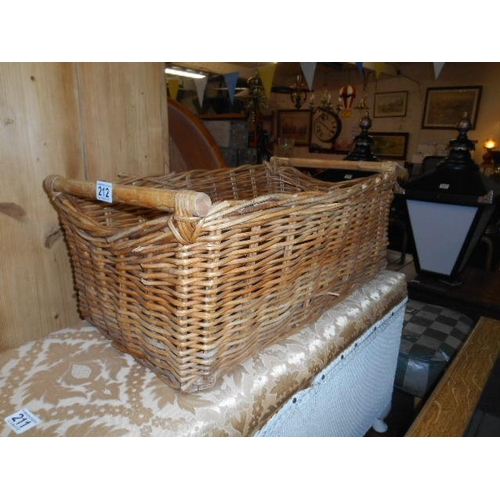 212 - Vintage wicker basket...