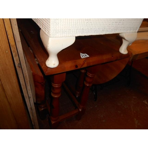 214 - Pine drop leaf kitchen table...