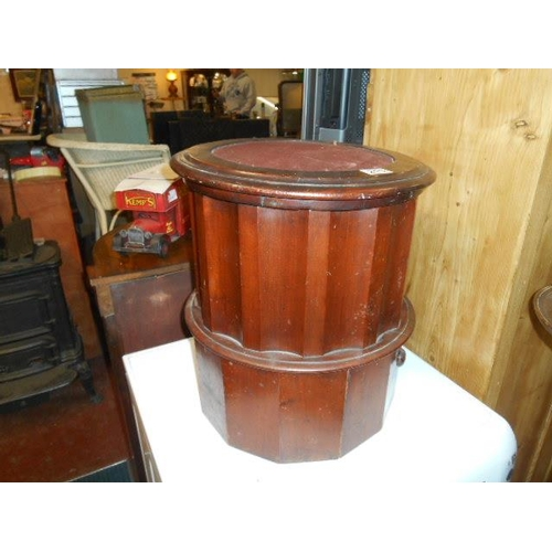 215 - Victorian walnut cylindrical commode...