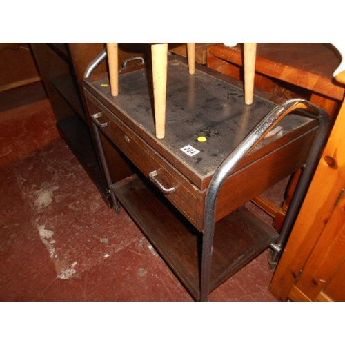224 - Vintage serving trolley...