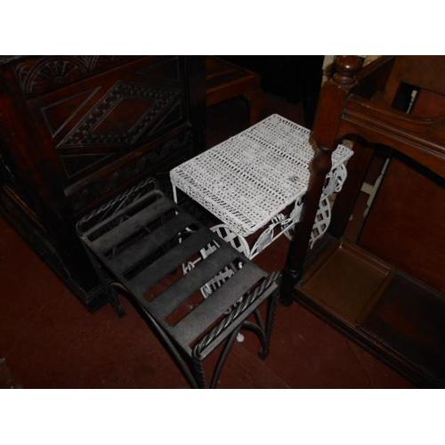 229 - 2 unusual cast stools...