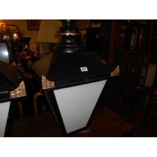 231 - Fully restored pub lantern...