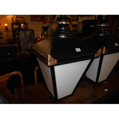 232 - Fully restored pub lantern...