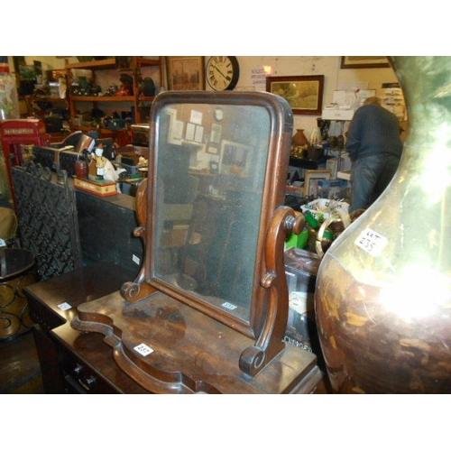 237 - Victorian walnut dressing mirror...