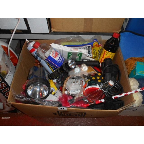 24 - Selection of misc tools and DIY items- including torches...