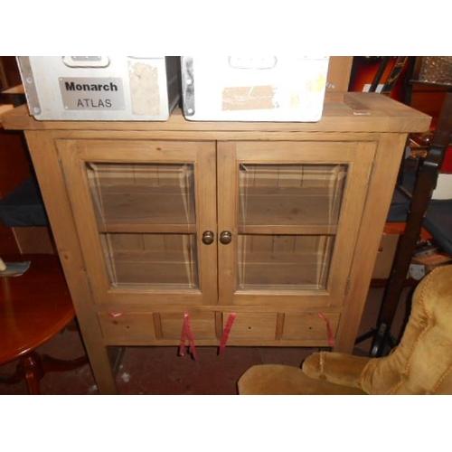 240 - Modern heavy oak cupboard...