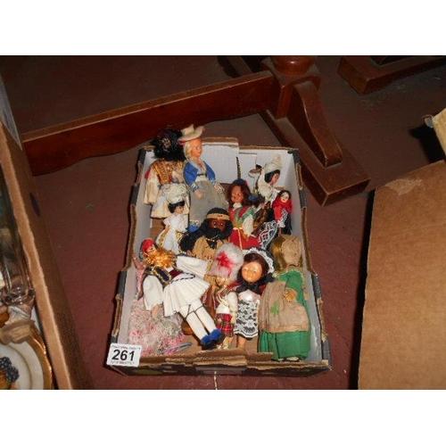 261 - Selection of mini Dutch dolls...