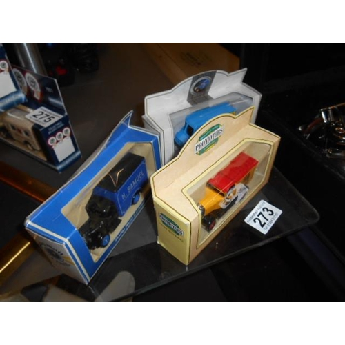 273 - 3 boxed model cars...