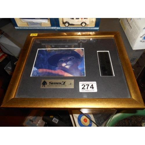 274 - Shrek framed film cell...
