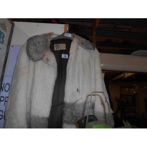 28 - Vintage fur coat...