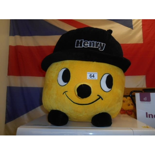 64 - Large Henry vac cuddly toy...
