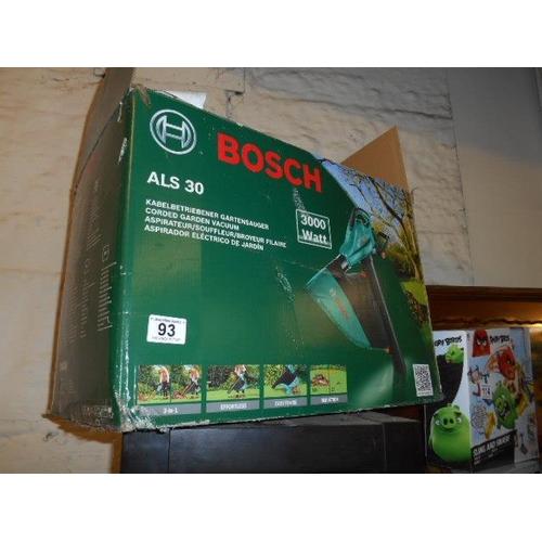 93 - As new Bosch garden vac- boxed...