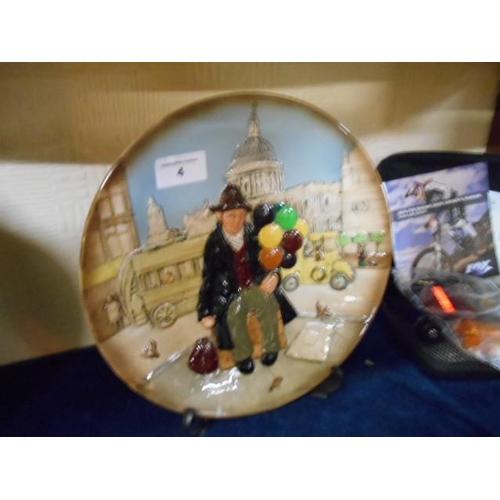 4 - Royal Doulton 'The Balloon Man' collectable plate...