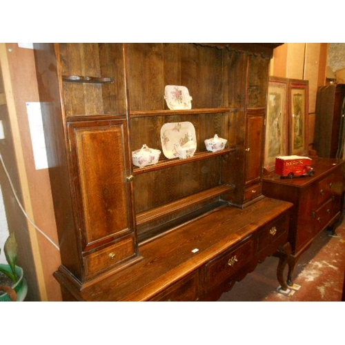 48 - Large oak dresser...