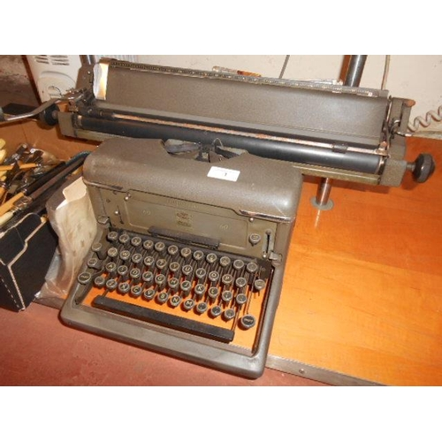 1 - Imperial 60 vintage typewriter and inst etc- working order...