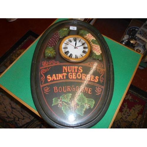 20 - Old French vineyard clock...