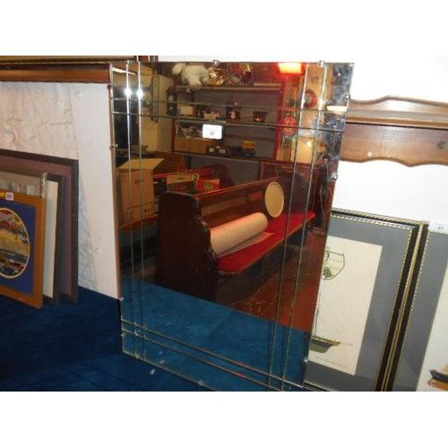 22 - Art Nouveau style large heavy mirror- 20