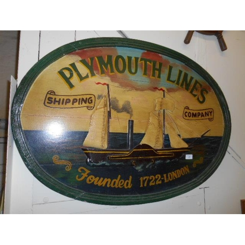 37 - Plymouth lines shipping sign...