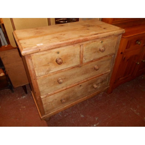53 - Old farmhouse 4 drawer chest...