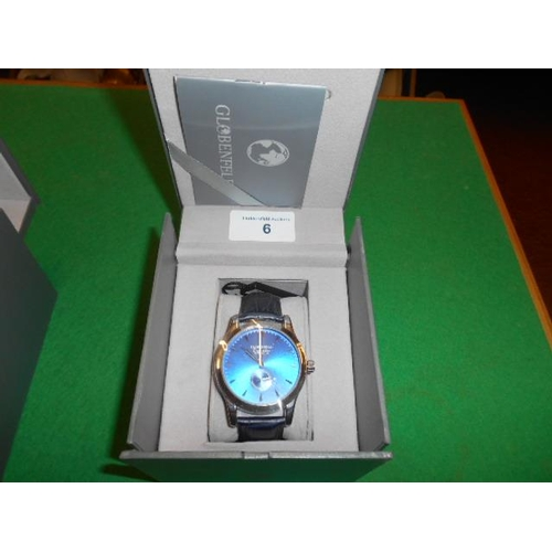 6 - Globenfield watch and certificate...