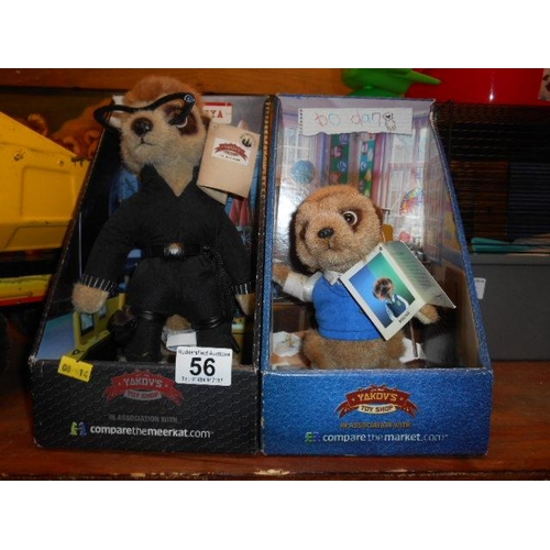 56 - Pair of collectable meerkat toys...
