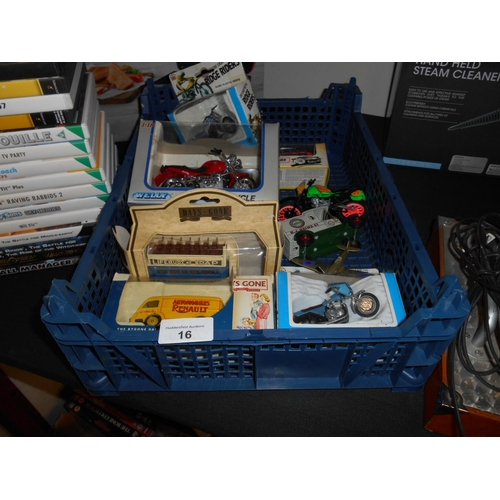 16 - Selection of model cars and motorbikes etc...