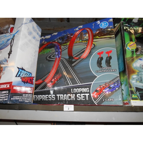 2 - Boxed as new car racing track...