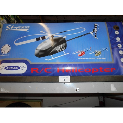 4 - Boxed as new remote control helicopter...
