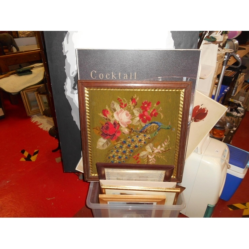 41 - Large selection of pictures including tapestry...