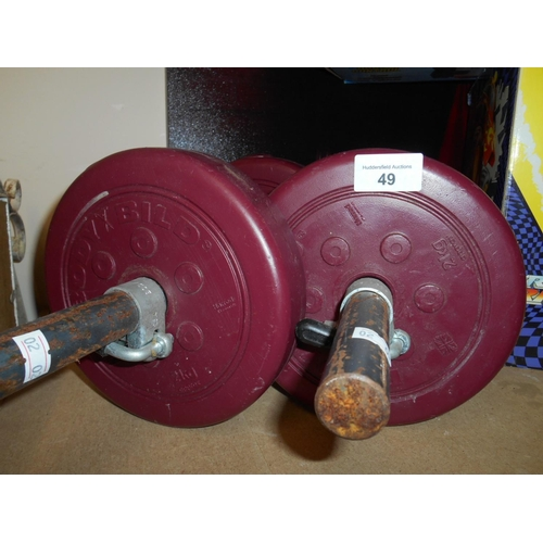 49 - Selection of dumbbells...
