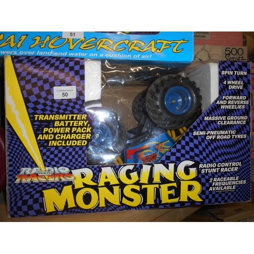 50 - Boxed as new racing monster truck...