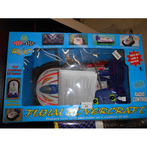 51 - Boxed as new remote control hovercraft...