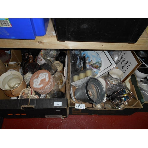58 - Large selection of bric...
