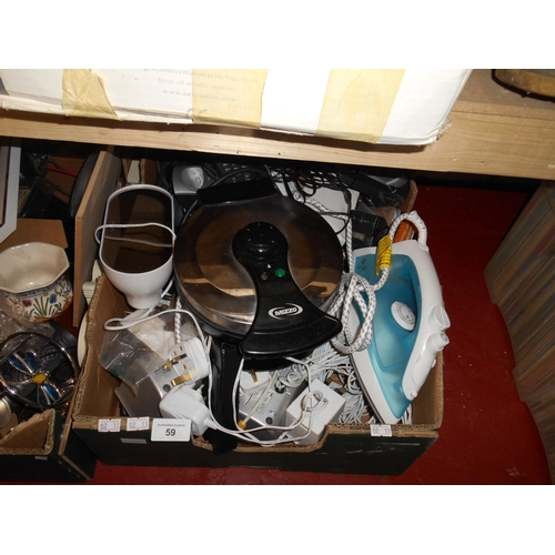 59 - Selection of mixed electricals...