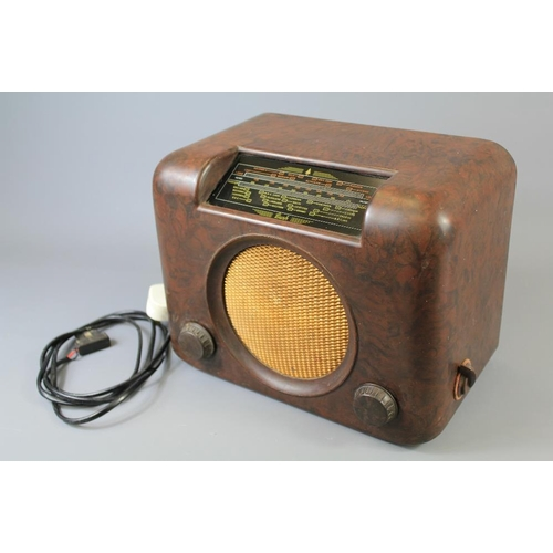50 - A Bakelite Valve Type DAC90-A Table Radio. The radio in Bakelite case with two valve bands MW/LW....