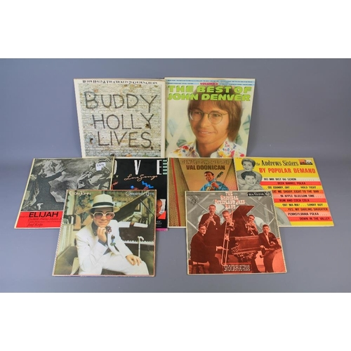 51 - A Vinyl Collection of 9 Vox 60 Records. The collection includes Elton John, Ella Fitzgerald, Neil Di...