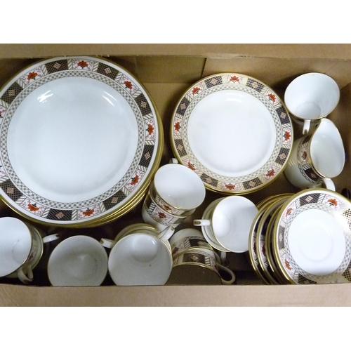 2 - Quantity of Royal Crown Derby ''Derby Border'' pattern tea & dinner wares, marked as seconds....