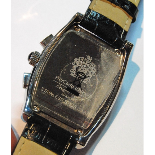 31 - PierCarlo d'Alessio automatic watch, stainless steel, with box....