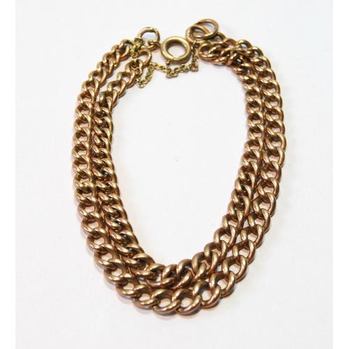 40 - 9ct gold bracelet of curb pattern, 22g....