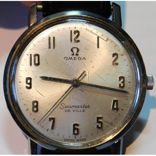 45A - Gent's Omega Seamaster de Ville watch, stainless steel, on strap, 1950s....