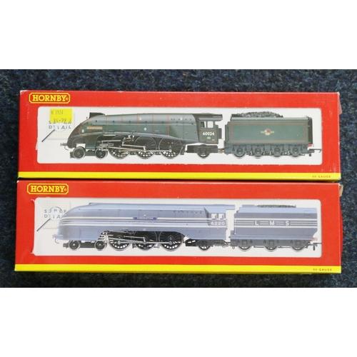 40 - Hornby OO gauge model railways 4-6-2 Kingfisher locomotive and tender Class A4 60024 BR green R2203 ...