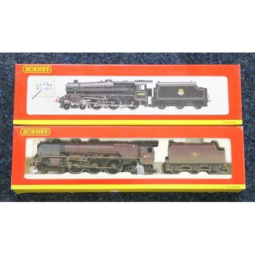 45 - Hornby OO gauge model railways 4-6-0 Class 5MT locomotive 44908 BR black R2359 and 4-6-2 City of Not...