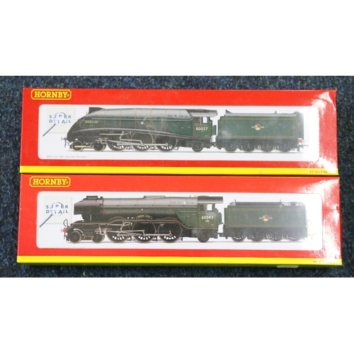 55 - Hornby OO gauge model railways 4-6-2 Brown Jack locomotive and tender Class A3 60043 BR green R2966 ...