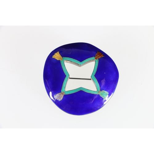 31 - Sheila McDonald contemporary enamelled silver brooch....
