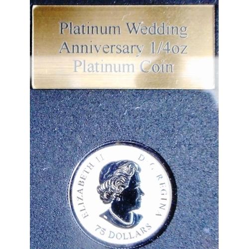 10 - Canada. 75 dollars. Platinum Proof. 1/4 oz. Cased....