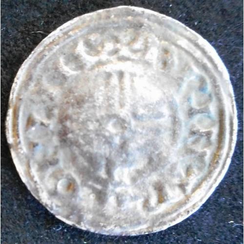 22 - England. Hammered silver penny. Cnut. 1016-35 A.D. Short cross. (SC 1159)...