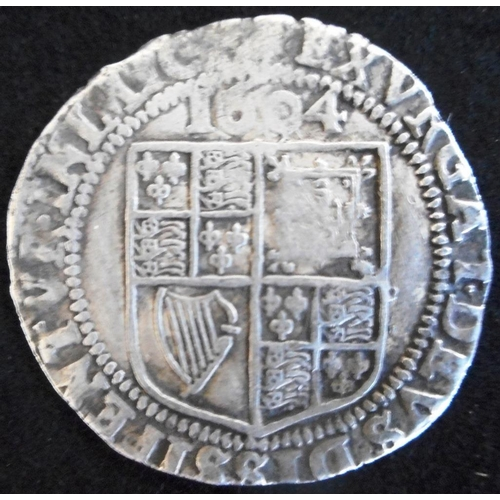 33 - England. Hammered silver sixpence. James I. First coinage, 2nd bust 1604, mm lys. (SC 2648)...