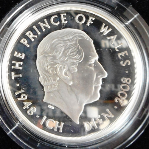 45 - United Kingdom. £5 crown. 2008. Prince of Wales. Silver Proof. Cased....