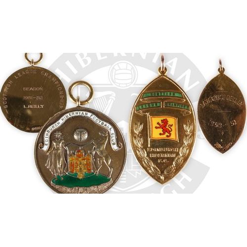 223 - The football medals of Hibernain Football Club forward and Scotland National team international Lawr...